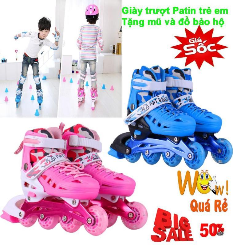 Phân phối Mua Ba Tanh, Giày Trượt Patin Trẻ Em Cao Cấp Mẫu Mới PT-374 ( Tặng Kèm Bộ Bảo Vệ Tay Chân Và Mũ Bảo Hiểm ), Shop Giày Trượt Patin Trẻ Em | Uy Tín - Giảm Siêu Sốc Đến 50%