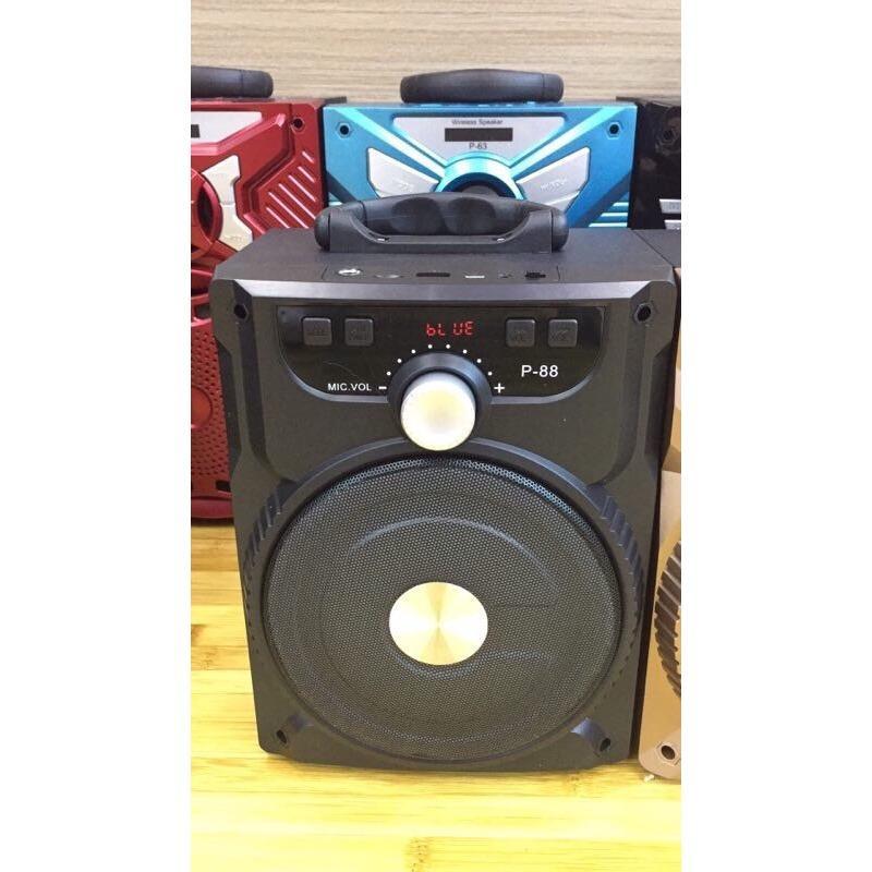 Bán Loa Di Động Bluetooth P88 89 Hat Karaoke Tặng Micro Oem