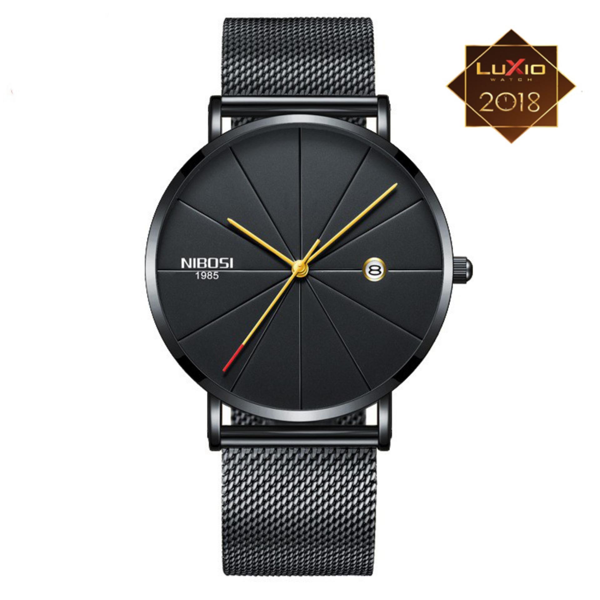 (SIÊU TRỢ GIÁ)Đồng hồ nam doanh nhân Nibosi dây thép nhuyễn không gỉ  - Siêu đẳng cấp