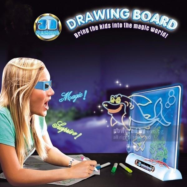 Hình ảnh Đồ chơi bảng vẽ tranh 3D Magic Drawing Board thần kì