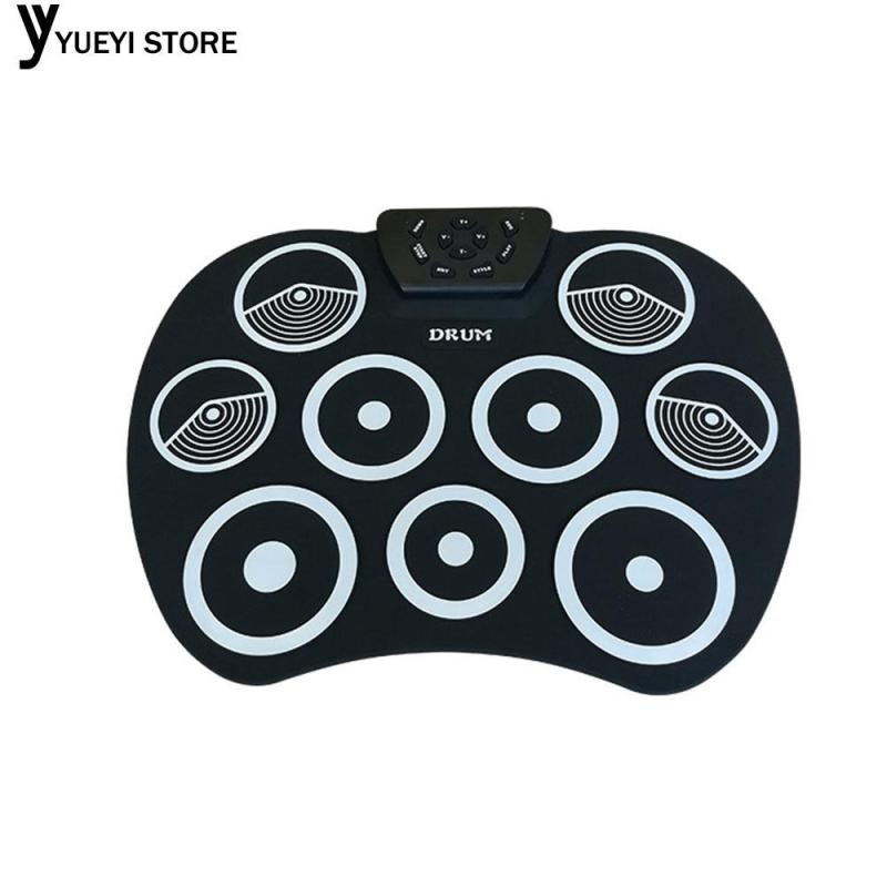 YYSL Roll-Up Drum Electronic Drum Black White Silicone Originality Kids