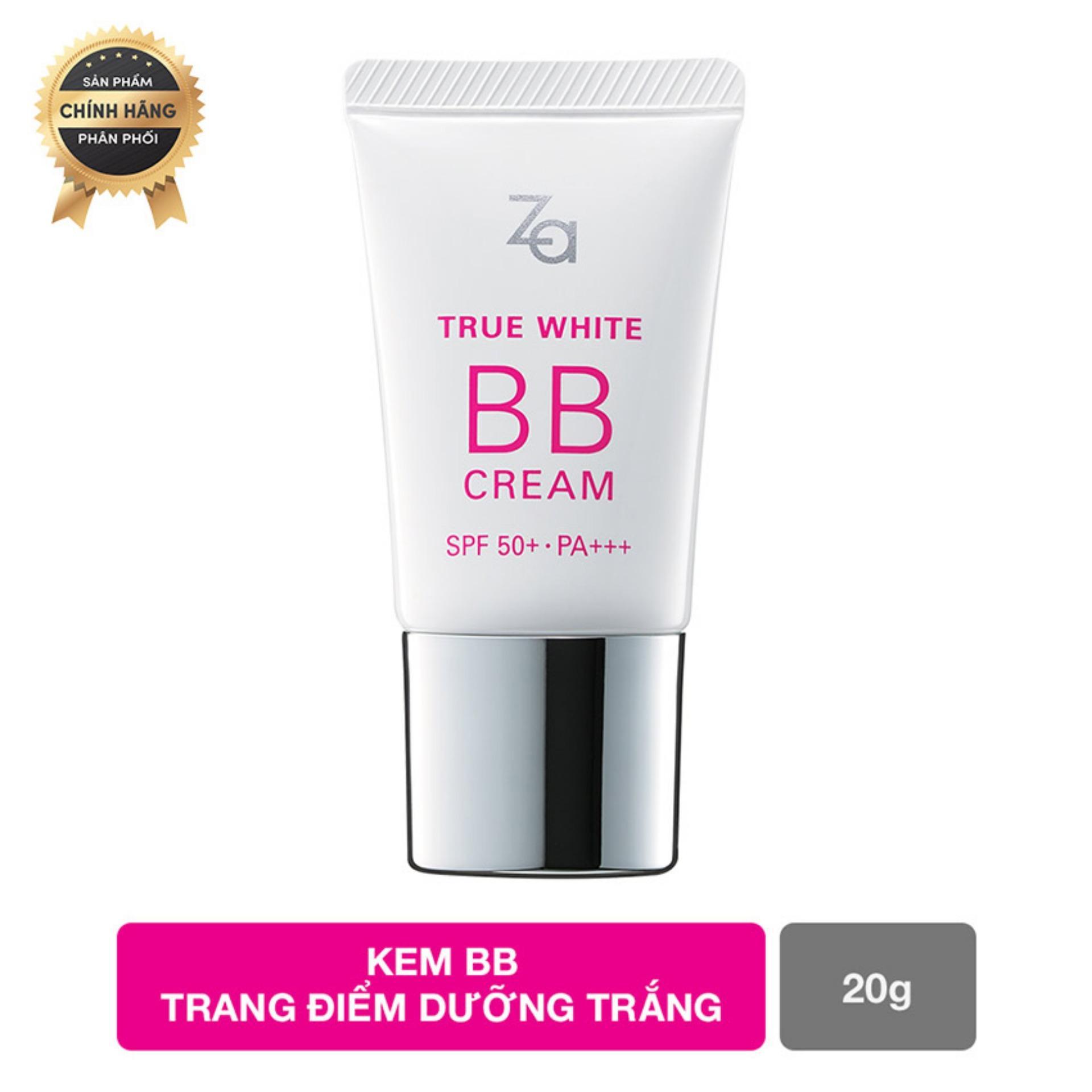 Hình ảnh Kem BB sáng mịn và che khuyết điểm tự nhiên Za True White BB Cream Bright 20g