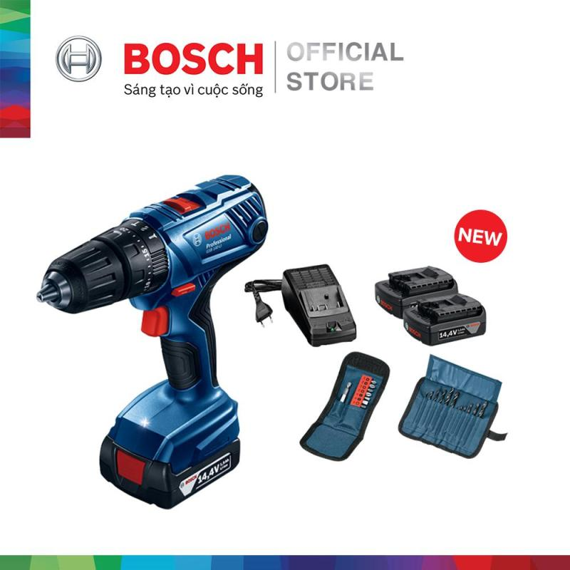Máy khoan vặn vít dùng pin động lực Bosch GSB 140-LI + phụ kiện MỚI