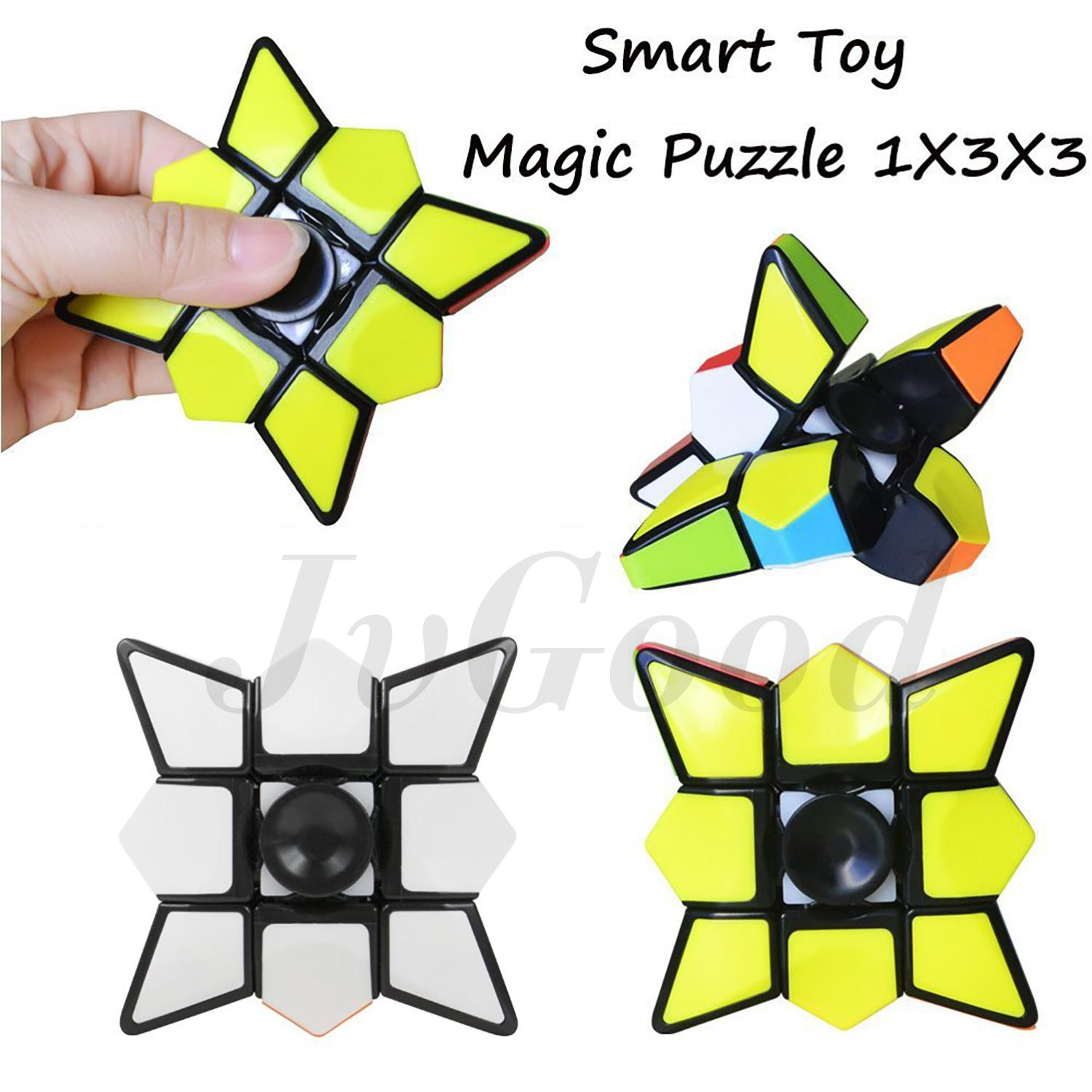 Detail Gambar JvGood Spinner Hand Toys Focus Games Magic Cube Puzzle Fidget Spinners Fidget Toy Spinner Cube Brain Teasers Stickerless Smooth 1X3X3 Smart ...