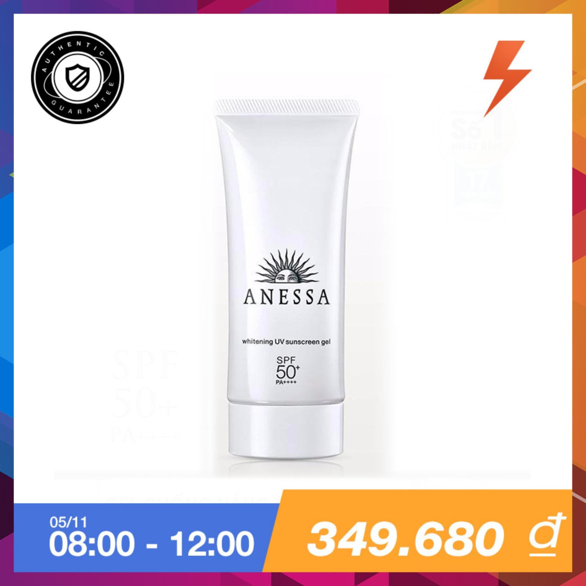 Giá Bán Gel Chống Nắng Dưỡng Trắng Anessa Whitening Uv Sunscreen Gel Spf50 Pa 90G Anessa Hồ Chí Minh