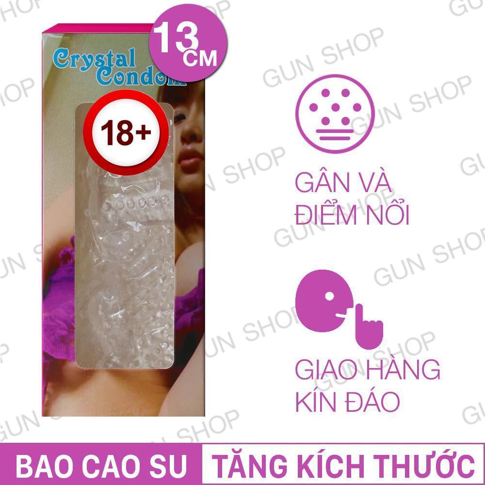 Hình ảnh Bao Cao Su Tăng Kích Thước (gân,điểm nổi) Crystal - [GUNSHOP-BZ]