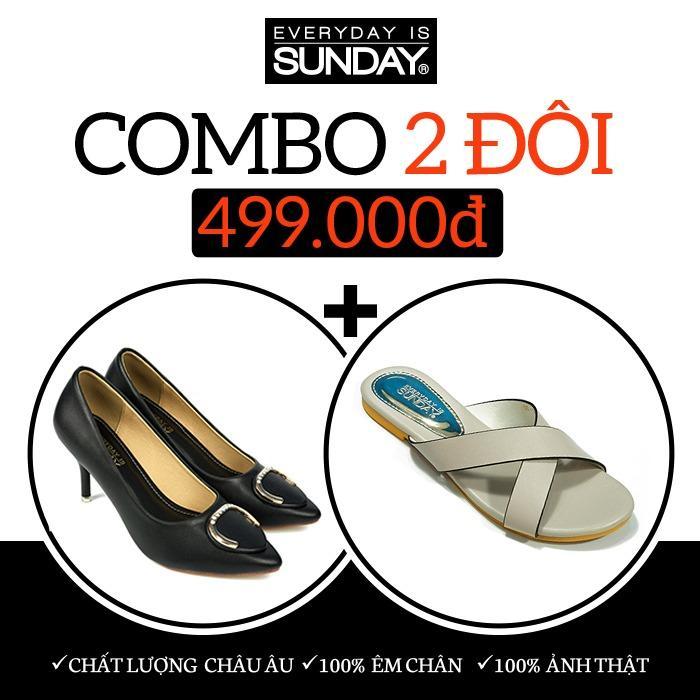 Giá Bán Combo Giay Cao Got Sunday Cg32 Đen Dep Sunday Dd17 Cg32Dd17 Sunday