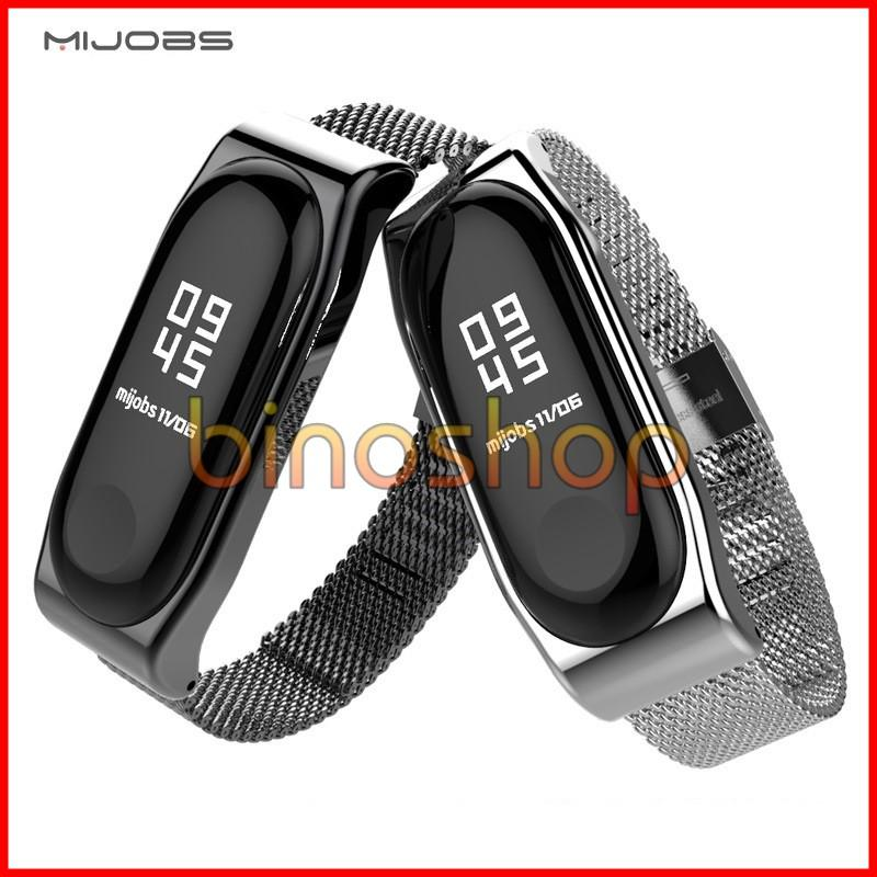 Hình ảnh Dây đeo kim loại Miband 3 Mijobs - Dây đeo thay thế cho miband 3