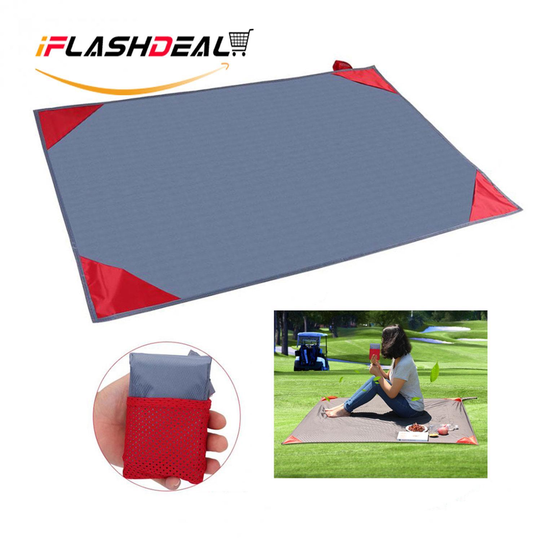Iflashdeal Pocket Blanket Dengan Carry Bag Attached Multipurpose Untuk Piknik Pantai Outdoor Dan Perjalanan Mat 150x145cm By Iflashdeal.