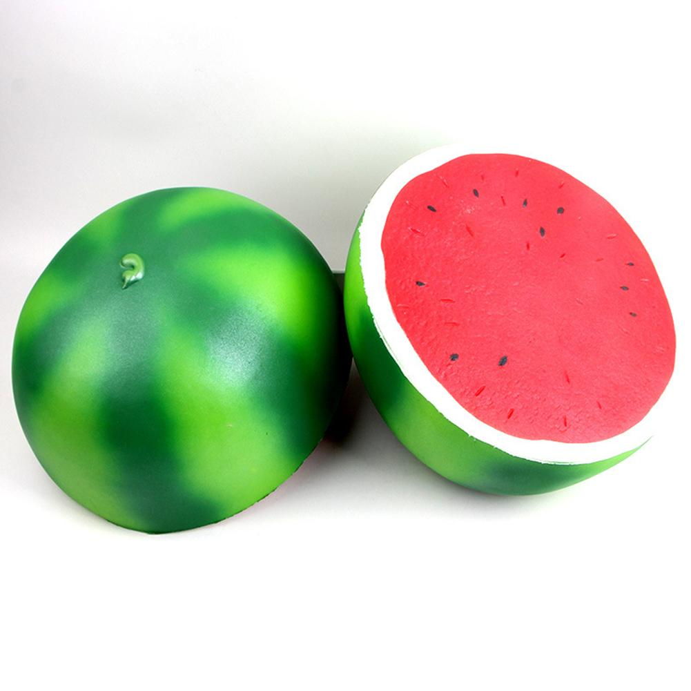25cm Super Large Squishy Half Watermelon Shape Slow Rising Toy Children/Adult Fruit Shape Vent Soft PU Squeeze Stress Relieve Toy