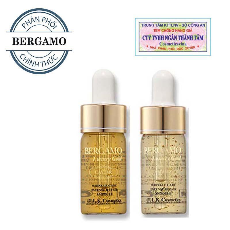 Set tinh chất trị mụn - dưỡng trắng - tái tạo da Bergamo Luxury Gold Collagen And Caviar 13ml/chai x 2 chai ( HÀNG CHÍNH HÃNG )