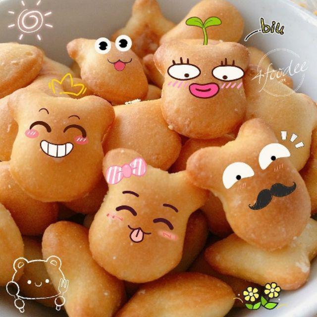 Hình ảnh 1Kg Bánh Gấu Nhân Kem THIÊN HỒNG Giòn Tan Thơm Ngon