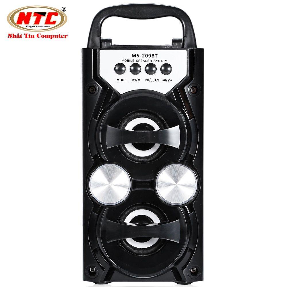 Mua Loa Bluetooth Mini Xach Tay Ms 209Bt 10W Đen Led Mau Ngẫu Nhien