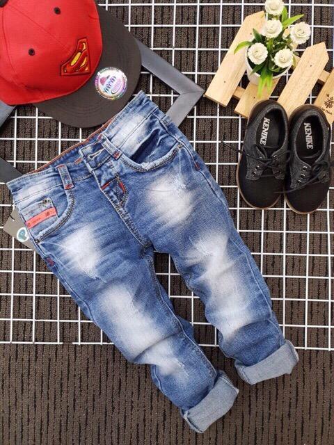 Hình ảnh Quần bò quần jean cho bé Size nhí