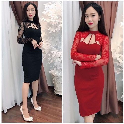 Đầm Nữ Body Phối Ren Tay Dài Sang Trọng Tiểu Thanh