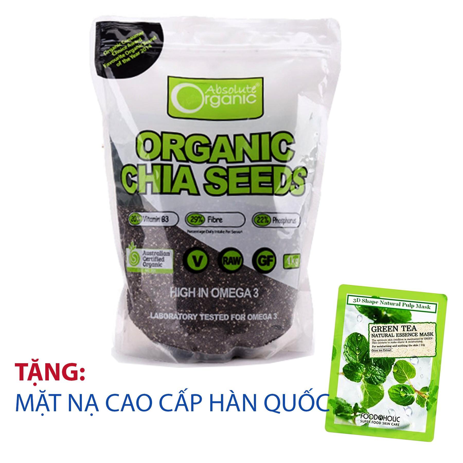 Hạt Chia Uc Seeds High In Omega 3 Absolute Organic Organic Chiết Khấu 40