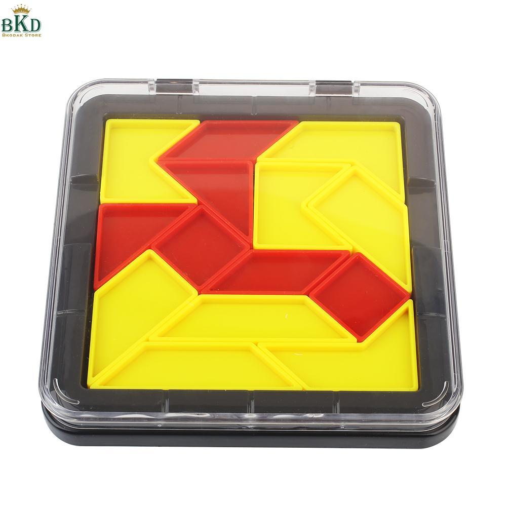 Hình ảnh Bkodak Store Plastic Puzzle Tangram Jigsaw Board Educational Cool Children Fun