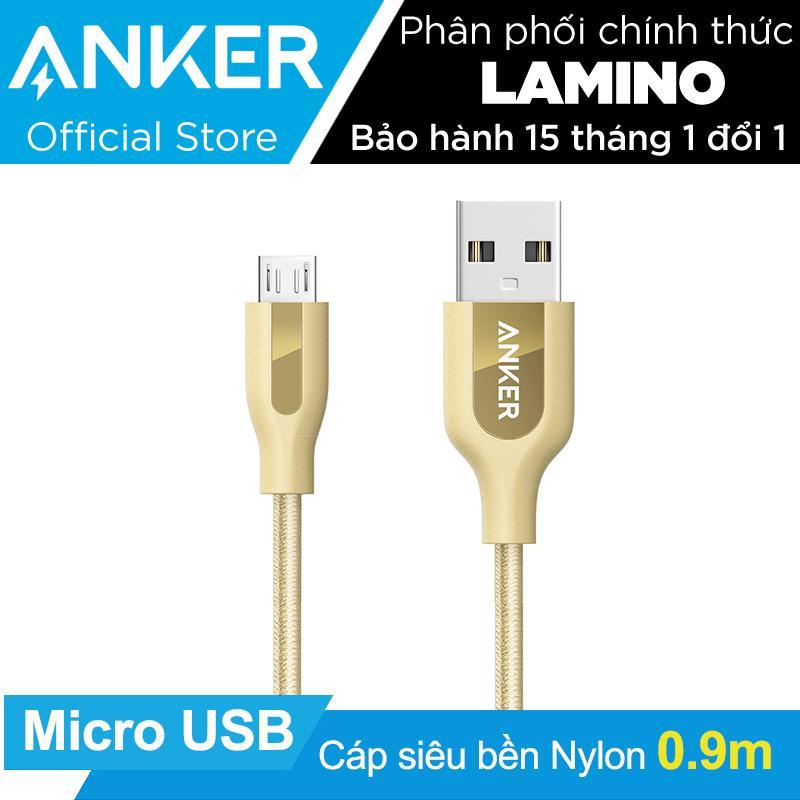Giá Bán Cap Sieu Bền Nylon Anker Powerline Micro Usb Dai 9M Vàng Đòng Co Bao Da Hang Phan Phối Chinh Thức