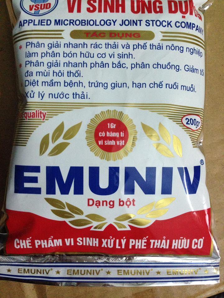 Hình ảnh Chế phẩm ủ phân hữu cơ Emuniv