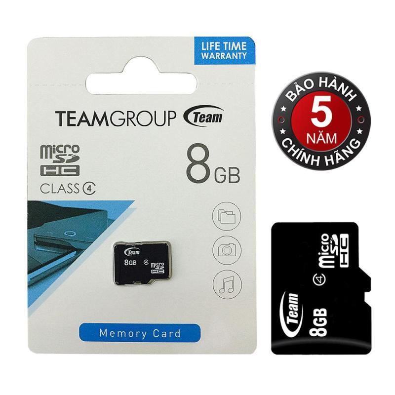Thẻ nhớ 8GB Team MicroSDHC (Đen) - Hàng phân phối chính thức