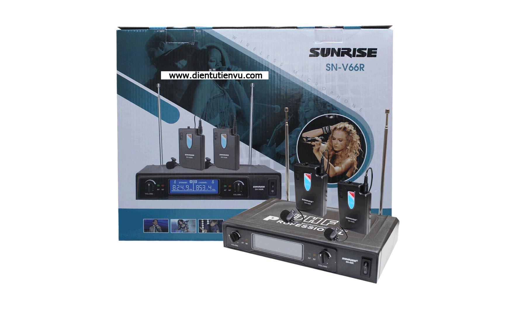 Bán Micro Kẹp Ao Đeo Tai Sunrise Sn V66R Sunrise Rẻ
