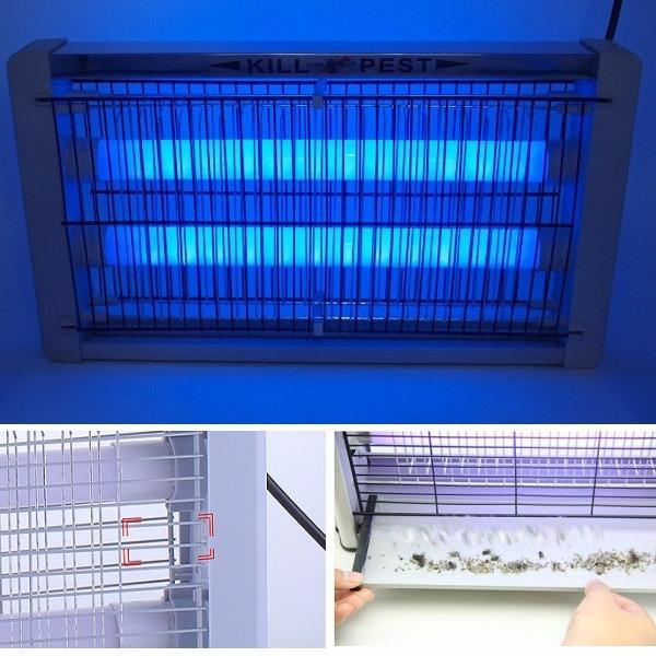 Đèn Bắt Muỗi Tiết Kiệm Điện Kill Pest LED-20W (Bạc) BH329