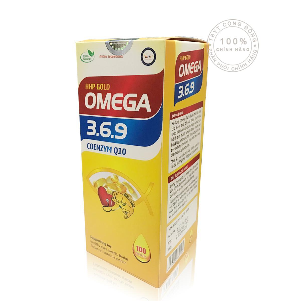 Viên uống bổ sung Omega 3.6.9 coenzym Q10 ( 100 Viên )(OEM)