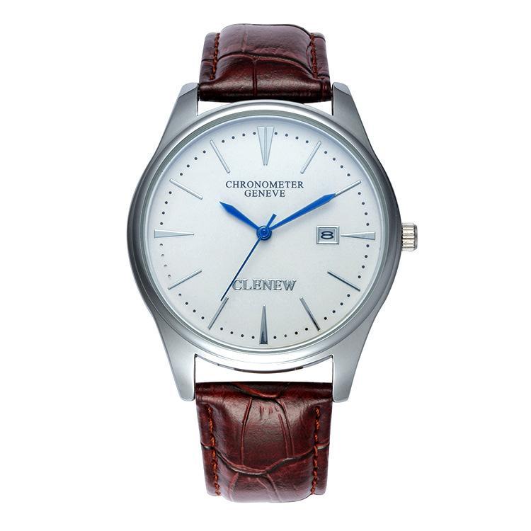 Hình ảnh Đồng hồ Geneve Clenew mặt trắng chống nước rất sang trọng + tặng pin 30k
