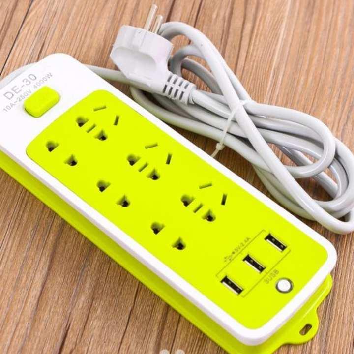 Hình ảnh Ổ CẮM ĐIỆN 6 PHÍCH CẮM 3 CỔNG USB