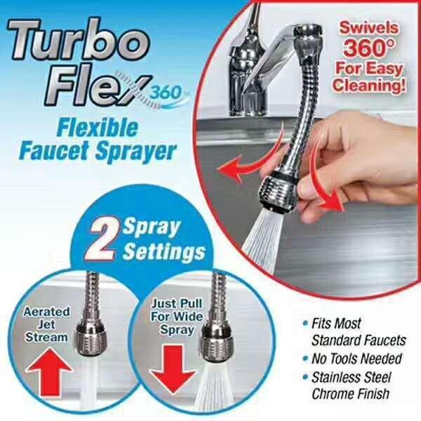 Hình ảnh Vòi xịt rửa bát tăng áp TURBO FLEX 360