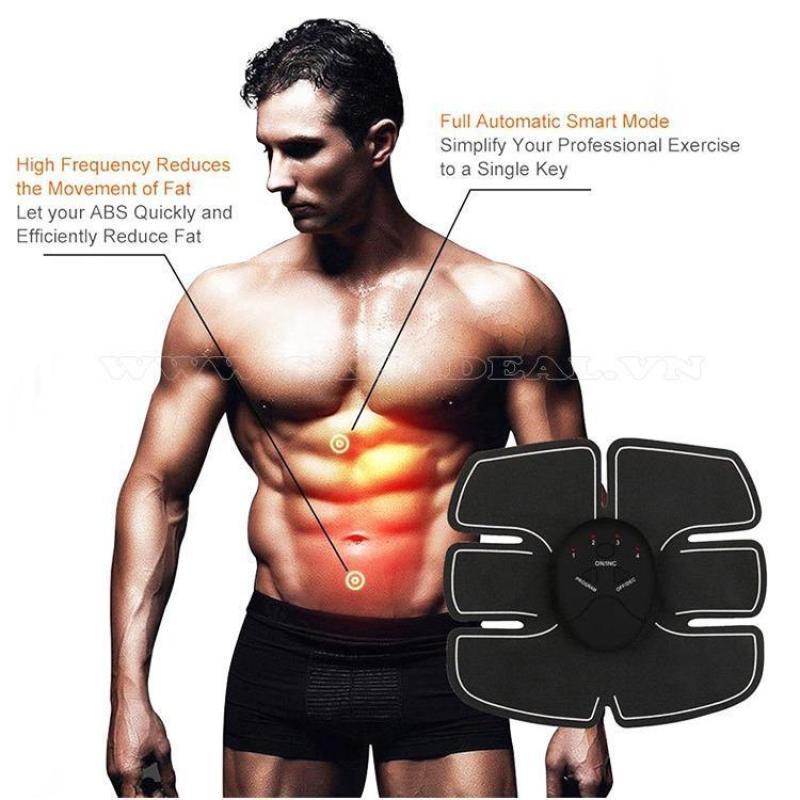 Thiết bị hỗ trợ tập cơ bụng 6 múi EMS Smart Fitness - BẢO HÀNH 1 ĐỔI 1