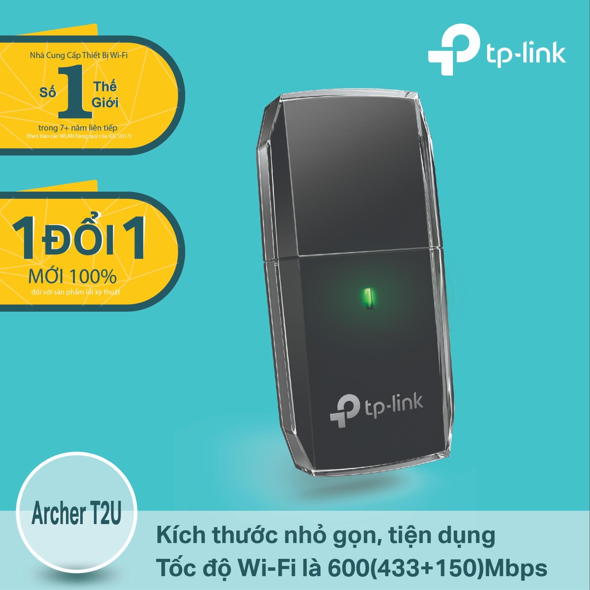 Mua Tp Link Archer T2U Usb Kết Nối Wi Fi Băng Tần Kep Chuẩn Ac 600Mbps Hang Phan Phối Chinh Thức Tp Link Nguyên