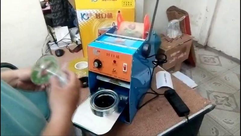 Máy dập miệng ly , máy dán màng cốc