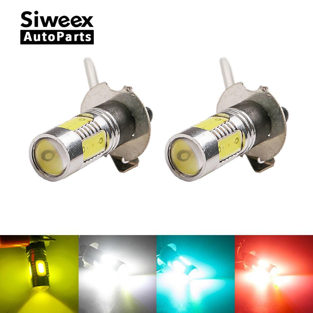 2x H3 COB LED High Power 12V PK22S Fog light Daytime running light for car styling