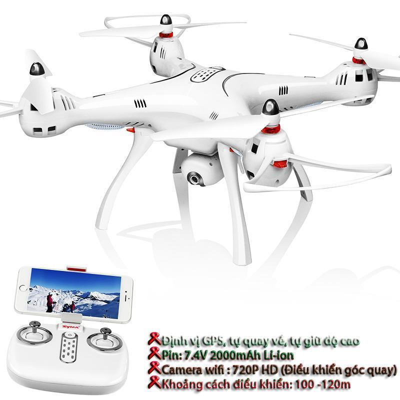 Flycam Syma X8 Pro- Có GPS, Tự động trở về, camera 720P HD truyền trực tiếp (Bảo hành 1 đổi 1)