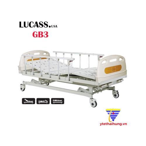 Hình ảnh Giường bệnh nhân 3 tay quay Lucass GB33