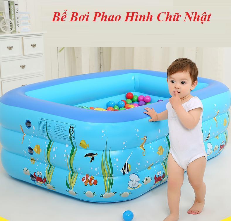 Hình ảnh Bể bơi 3 tầng 150cm cho bé