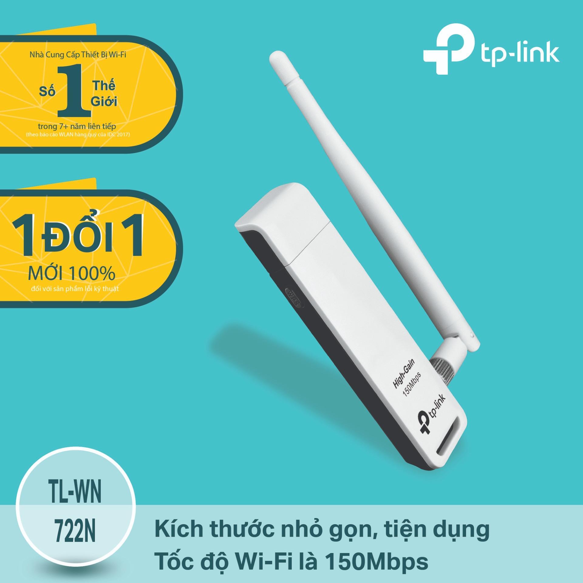 Bán Tp Link Tl Wn722N Usb Kết Nối Wi Fi Chuẩn N 150Mbps Độ Lợi Cao Hang Phan Phối Chinh Thức Rẻ Trong Hồ Chí Minh