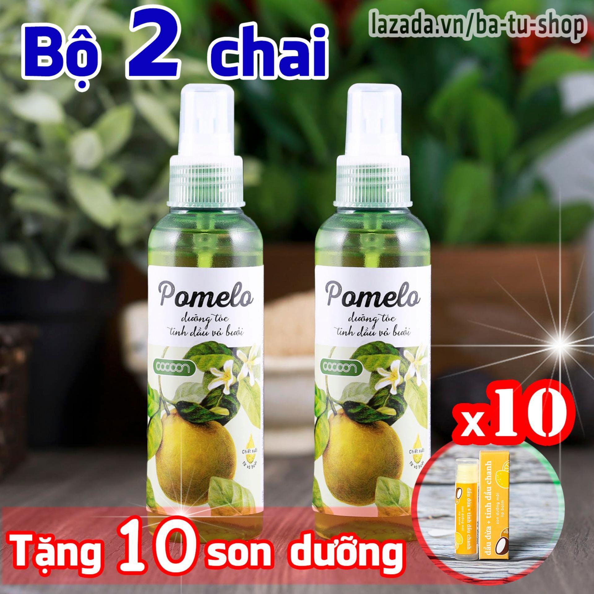 Hình ảnh Bộ 2 chai xịt bưởi kích thích mọc tóc Pomelo tặng ngay 10 son dưỡng môi Lip Care
