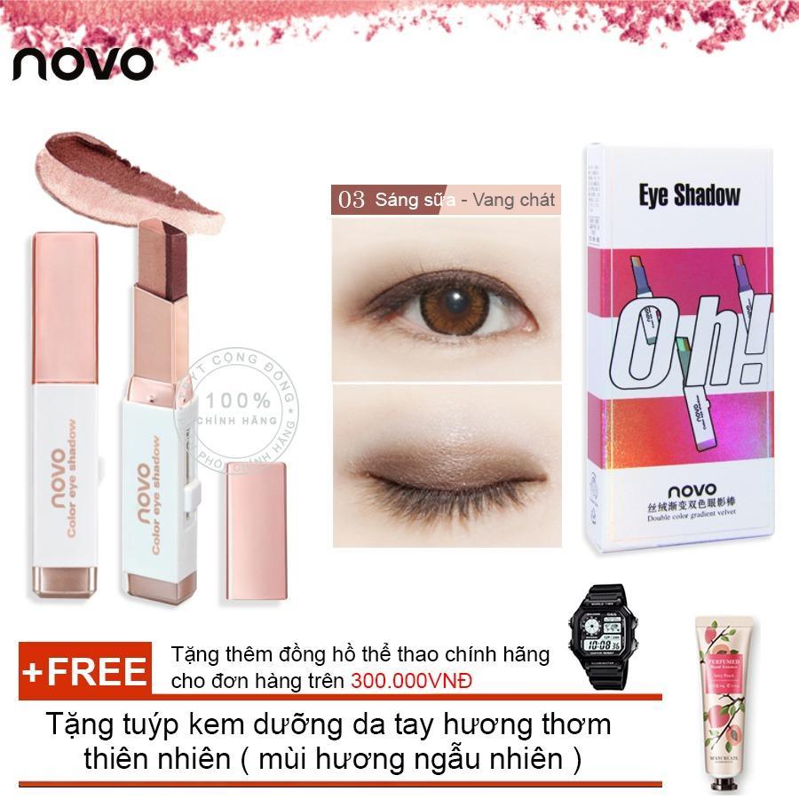 Hình ảnh Son sáp kẻ mắt ánh nhũ 3D Novo Pearlescent Eye Shadow 5099 + Tặng tuýp kem dưỡng da tay hương thơm thiên nhiên ( mùi hương ngẫu nhiên )