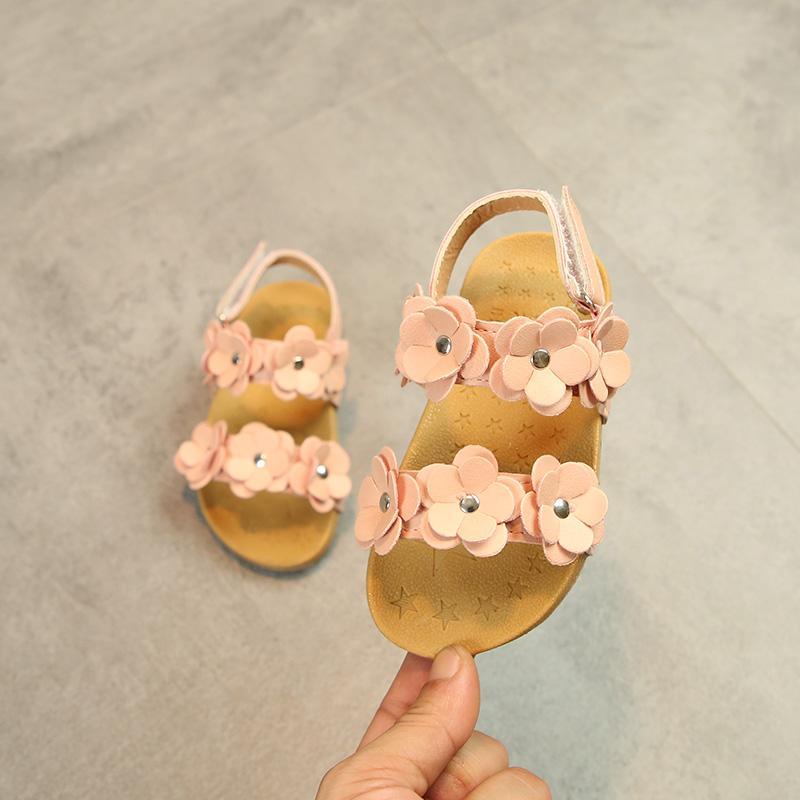 2019 Musim Panas Anak-Anak Huado Gaya Korea Sepatu Putri Anak Prempuan Kelihatan Jari Kaki Anti Selip Sandal Pantai Model Baru Petpet Pijakan Empuk Sandal Summer By Koleksi Taobao.