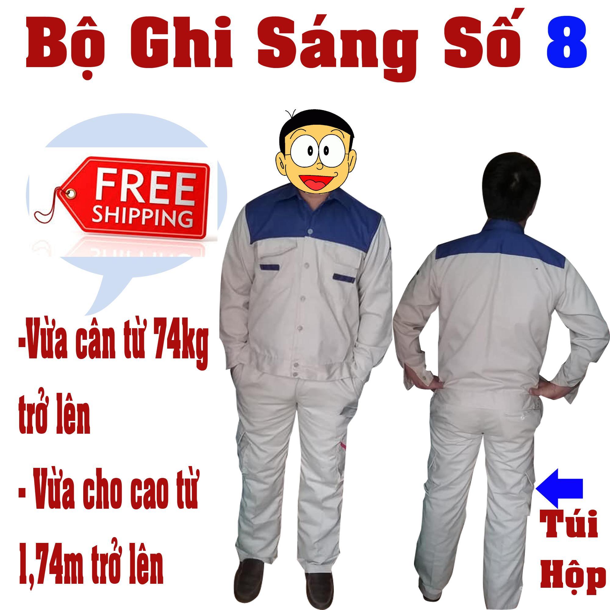 Bộ quần áo bảo hộ lao động size 8 (hơi ngoại cỡ); bao ho lao dong