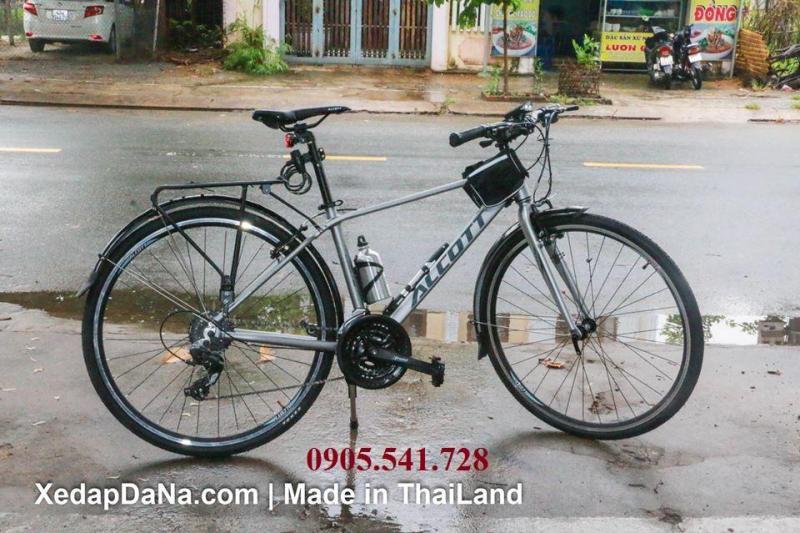 Phân phối Xe đạp Alcott 700 nhập khẩu từ Thái Lan màu xám bạc