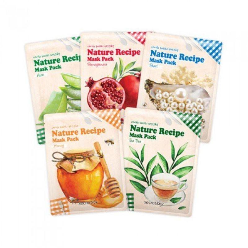 Mặt Nạ Mặt Nạ Secret Key Nature Recipe Mask Pack
