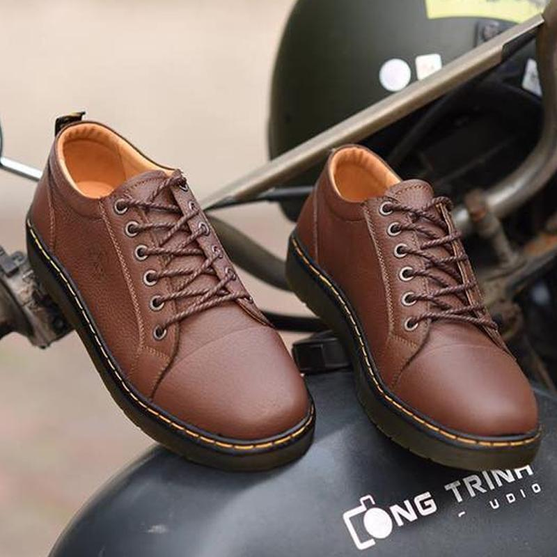 Giá Bán Da Bo Thật Giay Sneaker Nam Da Thật Trẻ Trung Năng Động Drm26 Bảo Hanh 12 Thang Size Lớn Nguyên