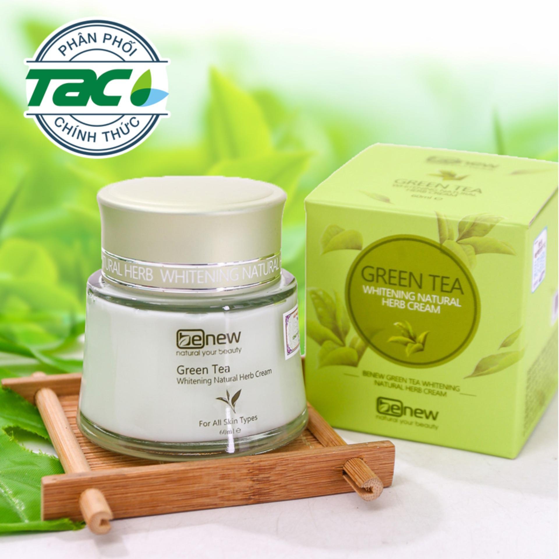Kem dưỡng da trà xanh Benew Green Tea 60ml