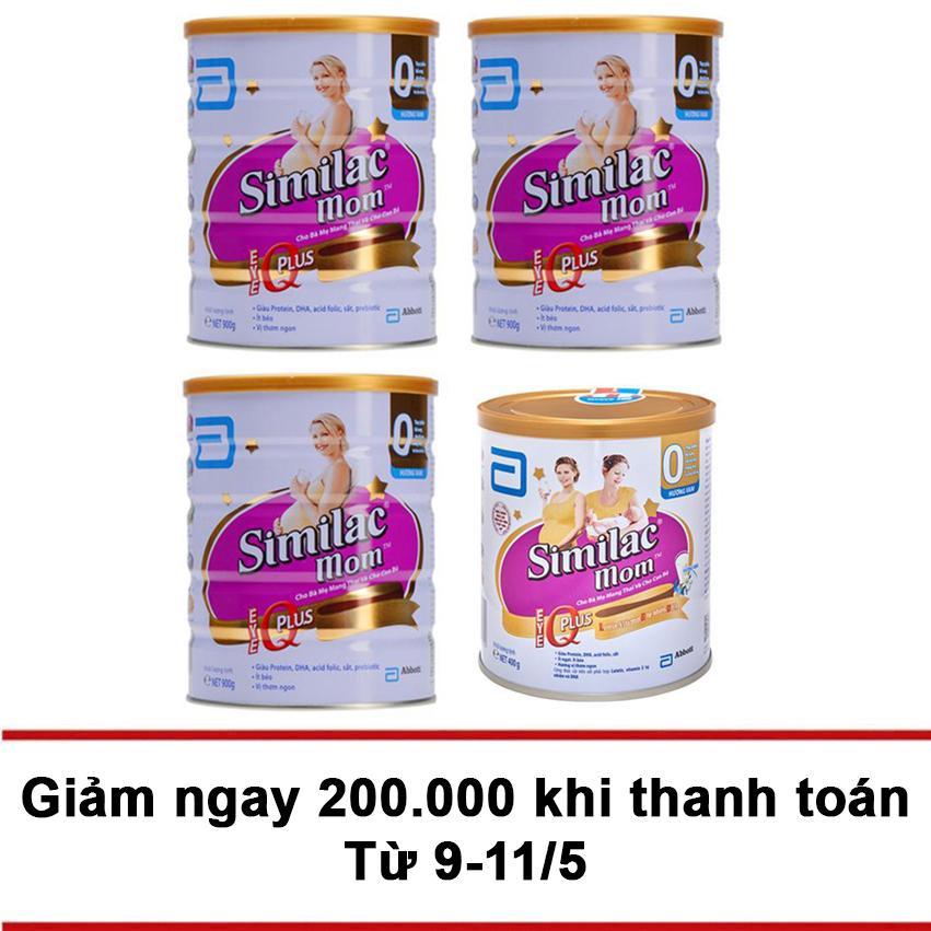 Mua Bộ 3 Lon Sữa Bột Similac Mom Hương Vani 900G 1 Lon Sữa Bột Similac Mom Hương Vani 400G Similac