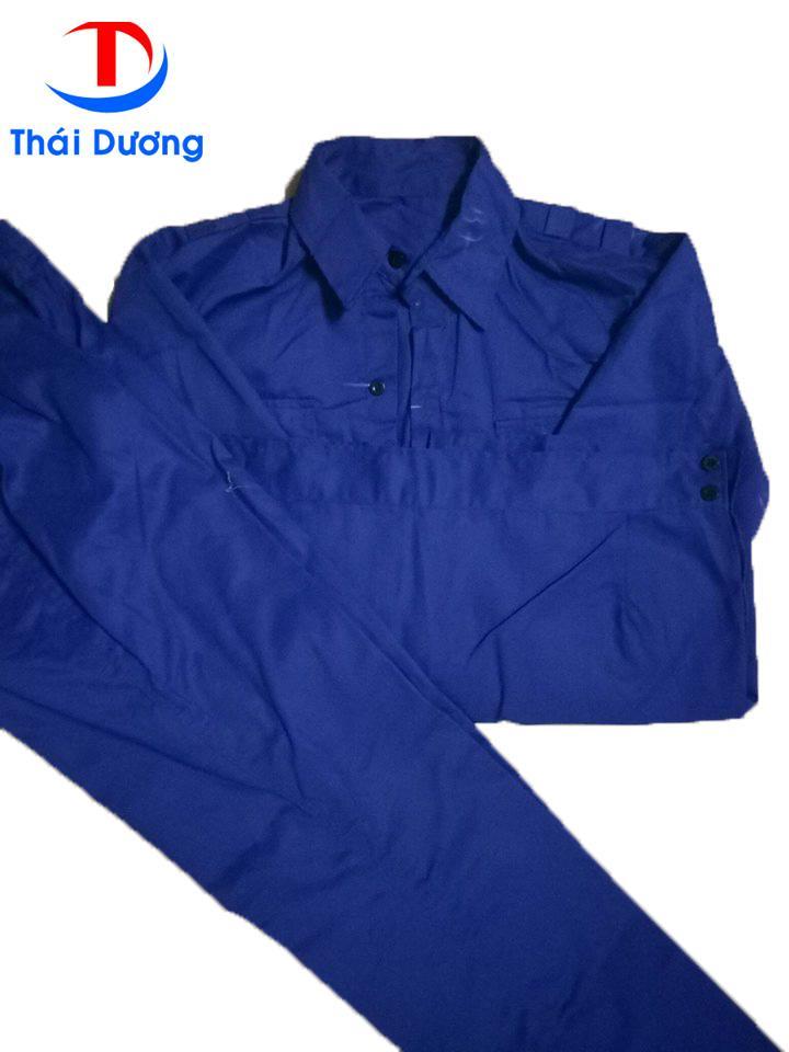 Bộ quần áo bảo hộ lao động Kaki Xanh Size 8 (XL) + Tặng 10 chiếc khẩu trang y tế Thái Dương Mask Cao cấp màu Xanh