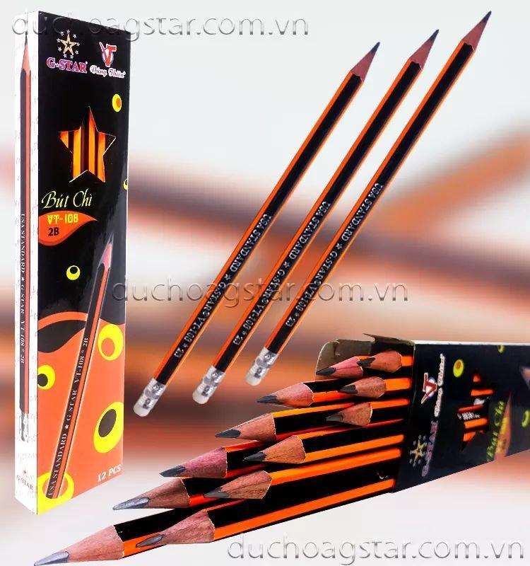 Mua 1 hộp 12 cây viết chì dạ quang cao cấp gstar