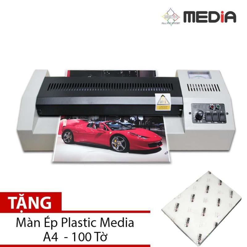 Bộ Sản Phẩm Máy Ép Màn Plastic Media MD320 Khổ A3 + Màn Ép Plastic A4 100 Tờ